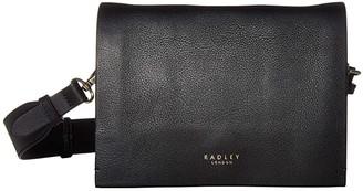 Radley London Haven Street - Small Flapover Crossbody (Black) Handbags