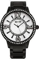 SO & CO Ny Women'S Madison Stainless Steel Bracelet Dress Quartz Crystal Filled Numerals And Mother Of Pearl Watch J159P77