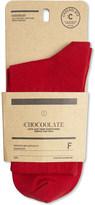 Chocoolate Food badge cotton crew socks