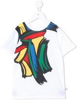 Stella McCartney paint stroke print T-shirt - kids - Cotton - 8 yrs