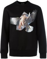 Neil Barrett angel and eagle print sweatshirt