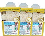 Spongeables Aromatherapy Foot Exfoliating Sponge with Heel Buffer & Pedicure Oil, Foot Scrub Daily Bath Exfoliator with Eucalyptus & Lavender, Citrus, 3 Count