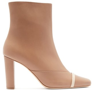 Malone Souliers Lori Square-toe Leather Ankle Boots - Nude