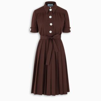 Prada Cocoa flared dress