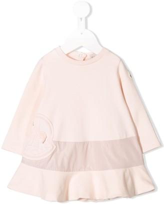 Moncler Enfant Embroidered Logo Sweater Dress