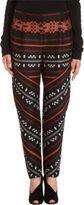 Proenza Schouler Spiral Geometric Tapestry Print Trousers