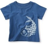 Tea Collection 'Shibori Fish' Graphic T-Shirt (Baby Boys)