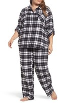 Make + Model Plus Size Women's Flannel Pajamas