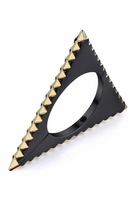 House Of Harlow Gunmetal Triquetra Hinged Cuff