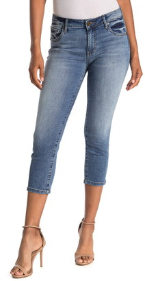KUT from the Kloth Abigail Side Slit Straight Crop Jeans