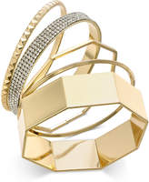 Thalia Sodi Gold-Tone 5-Pc. Set Pavé Bangle Bracelets, Created for Macy's