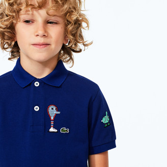 Lacoste Boys x Jeremyville Graphic Cotton Polo