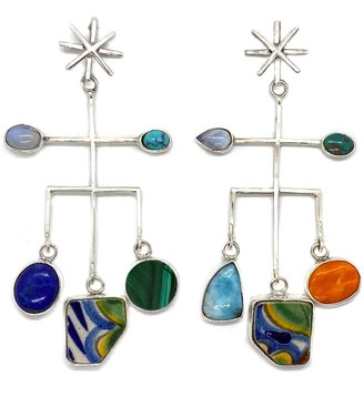 Fábrega Jewelry One Of A Kind Silver Seres Mobile Star Earrings