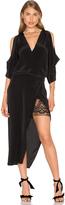 Michelle Mason Open Shoulder Lace Dress