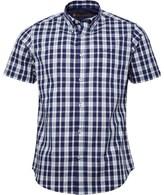 Ben Sherman Short Sleeve Check Shirt Blue Twilight
