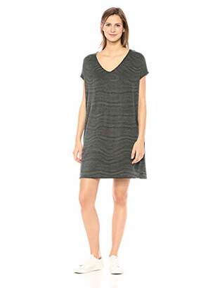 Daily Ritual Women's Supersoft Terry Dolman-Sleeve V-Neck Dress,XL
