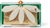 Charlotte Olympia Pandora Loves Me Perspex Clutch - Green