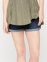 A Pea in the Pod Secret Fit Belly Cuffed Maternity Shorts