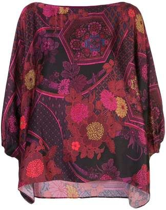 Natori printed poet blouse