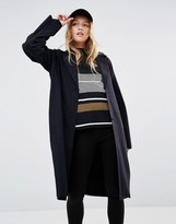 Weekday Raw Edge Longline Coat