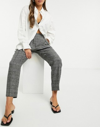 NATIVE YOUTH slim-fit pants in grey check