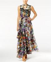 Catherine Malandrino Printed Chiffon Maxi Dress