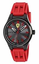 Ferrari Scuderia Men's Quartz Stainless Steel and Silicone Casual Watch, Color:Red (Model: 840010)