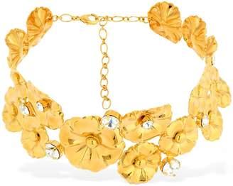 Ca&Lou Ortensia Flower Choker W/ Crystals