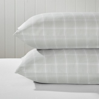 The White Company Pembroke Classic Pillowcase - Single, Grey White, Super King