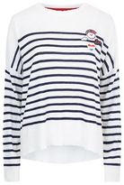 Sundry Stripe Patches Jumper