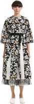 Jil Sander Floral Printed Cotton Canvas Coat