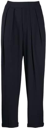 Enfold pleated high waisted trousers