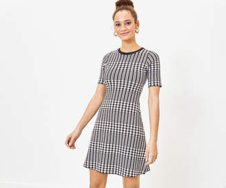 Oasis Dogtooth Shift Dress