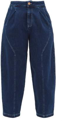 See by Chloe Curved-panel Cropped Jeans - Womens - Denim
