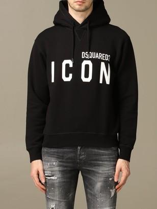 DSQUARED2 Sweatshirt Icon Cotton Sweatshirt With Logo