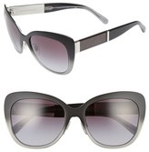 Burberry Women's 57Mm Cat Eye Sunglasses - Dark Brown