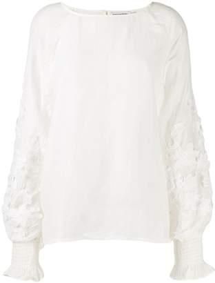Essentiel Antwerp floral embroidered blouse