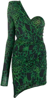 Alexandre Vauthier ruched animal print dress