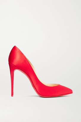 Christian Louboutin Pigalle Follies 100 Satin Pumps - Red