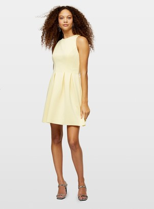 Miss Selfridge PETITE Yellow High Neck Scuba Dress