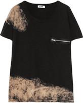 LnA Muse bleached-effect cotton T-shirt