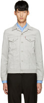 Junya Watanabe Grey Coated Jersey Levis Edition Jacket