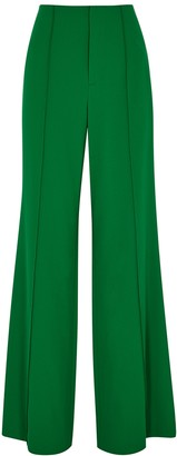 Alice + Olivia Dylan green wide-leg trousers