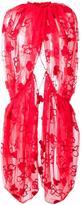 Simone Rocha lace embellished cape - women - Polyamide/Polyester/Wool - 10