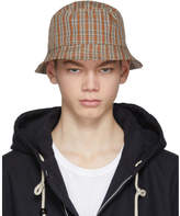Acne Studios Red and Orange Check Buk Bucket Hat