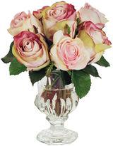 Winward Silks 9 Rose Arrangement in Vase, Faux
