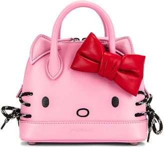 Balenciaga XXS Kitty Top Handle Bag in Pink   FWRD