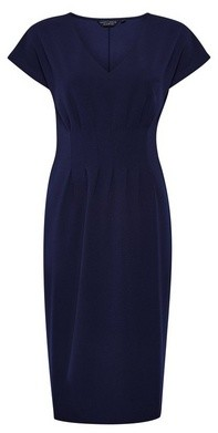 Dorothy Perkins Womens **Navy Pleat Waist Pencil Dress
