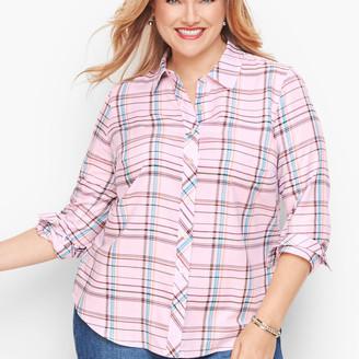 Talbots Classic Cotton Shirt - Multi Plaid