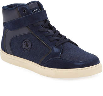 Original Penguin Men's Miller Tonal High-Top Trainer Sneakers